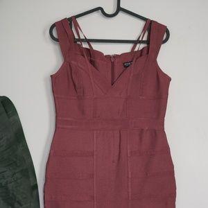 Fashionnova Lansa Bandage Dress - Dark Mauve